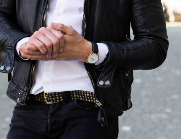 Timepiece & cuff: Daniel Wellington